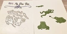 Dies...to die for metal cutting craft die Frog set - small - Pond collection