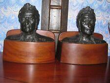 Antique Tiffany Bronze Bookends Dante Circa 1925