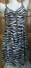 DressNStyle Branded DIVIDED by H&M Black and White Combi Zebra print Mini Dress