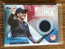 2016 Topps Team USA Olympic KIM RHODE SP Shooting Memorabilia Patch Card