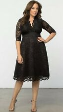 "NWT Kiyonna ""Mademoiselle"" 3X Dress Black Lace Dress $164 Lane Bryant"