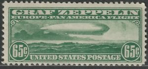 Scott C13 65¢ Zeppelin over Atlantic Ocean Air Mail Mint Single MNH