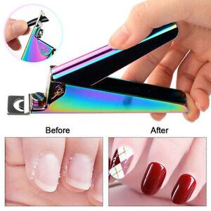 Manicure Tip Cutter U Nail Scissors For Acrylic False Nail Clipper Nail Art Tool