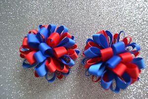 Girls School Colour Loopy Hair Clips