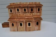 10 Bluebird Bird Houses Nest Box Cedar Shake Roof Peterson Oval Opening Free S/H