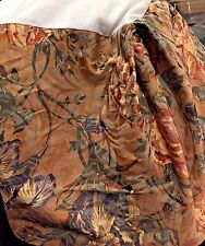 Floral Damask Twin Pleated Bed Skirt Light Brown Floral Rose Print
