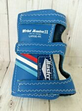 Wrist Master II Large Right Hand Bowling Glove Blue Wrist Brace Support