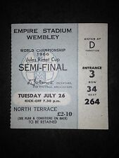 1966 World Cup Semi-Final Ticket:- England v Portugal