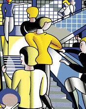 Lichtenstein Roy Bauhaus Stairway Canvas 16 x 20   #4728
