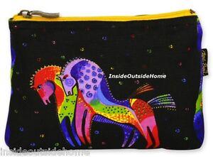 Laurel Burch Rainbow Horses Organizer Bag Makeup Craft Medical Small Tech/Cords