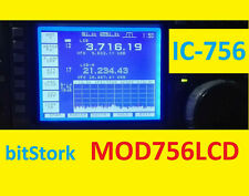 ICOM IC-756 LCD DISPLAY KIT MOD756LCD WHITE-On-BLUE bitStork SP2AND QRZ