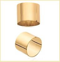 Bague Alliance épaisse Cylindre Plaqué or 18 CARATS 750/1000  Bijoux Homme/Femme