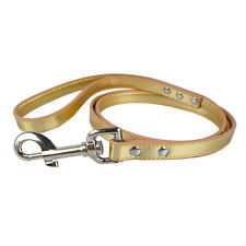 4FT Long Metallic PU Leather Pet Dog Leash Pet Outdoor Walking Leads Bling