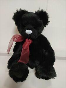 "CHARLIE BEARS black teddy 14"" tall vgc"