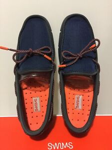 SWIMS Stride Lace Loafer Active Boat/Casual Shoes Men size 8 Navy/Dark Gray