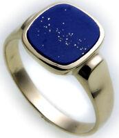 Herren Ring echt Gold 585 echt Lapis Lazuli alle Steine mögl. Gelbgold Qualität