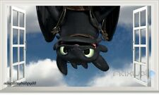 Train Dragon Toothless 3D Window Wall Decals Removable Stickers Kids Party Decor