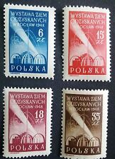 POLAND STAMPS MNH Fi462-65 Sc426-29 Mi493-96-Exhibit. of recovery territor.,1948