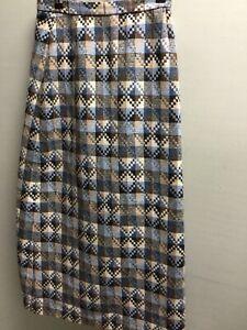 Vintage Dereta Wool Maxi Skirt UK 10