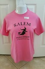 Salem Massachusetts Witch - A Wicked Good Time - Pink Youth XL T-Shirt NWT