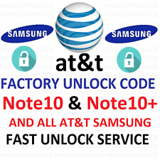 att SAMSUNG Galaxy Note 10 plus Factory unlock code service S + Note10+ imei 10+