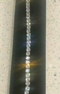 25Ct Diamond Tennis Bracelet 1 Row Round Diamonds perfect 14K Yellow Gold Over