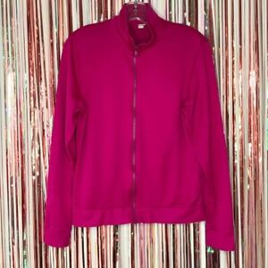 Under Armour Womens pink all season Full Zip Semi-Fitted Athletic Track jacket S