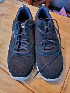 Skechers Men's Dynamight 2.0 Fallford Wide Shoes 58363W/BLK - Black/Gray Size 13