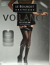 NEUF @@  BAS SATINé CANNELLE 15 DEN + LE BOURGET Voilance + 1/2/3 ou 4