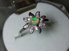 Ring Silver 925 with Natural Ethiopian solid opal