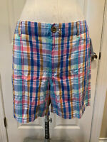 "J. Crew Multicolor Plaid ""Chino"" Shorts, Size 14 (US)"