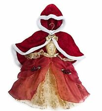 Disney Belle Deluxe Holiday Dress with Cape for Toddler Girls - Size 3 XXS