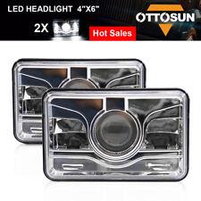 "OTTOSUN Pair 4""x6"" LED Sealed Beam Headlight Conversion Headlight Chrome"