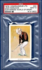 1979 VENORLANDUS LTD. Our Heroes World Of Sport GOLF JACK NICKLAUS #22   PSA 9