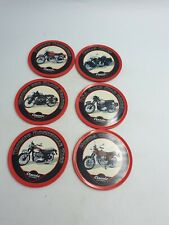 6 Classic Motorbikes Coasters Cork Backed By Atlas Editions Norton Honda Triumph