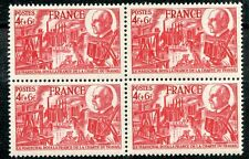 STAMP / TIMBRE FRANCE NEUF N°608 ** BLOC DE 4 TIMBRES CHARTE DU TRAVAIL