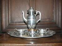 ca.100 Jahre altes Mokka Kaffee Tee Service 7 teilig  versilbert gemarkt