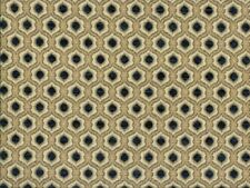 Saxon 3567 Geo Navy 100% Polyester Fabric
