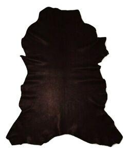Premium Thin Black Grain Goatskin Leather Hide Garments Bookbinding Bible