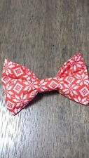 MADE IN USA! Dog Collar attachment Bow Bowtie Holiday Christmas sweater red