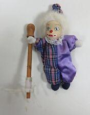 "Collectible 6-1/2""  Porcelain & Cloth Clown Doll Un-marked"