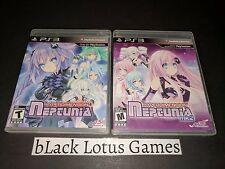 Near Mint Discs Hyperdimension Neptunia + MK II PS3 Complete PlayStation 3