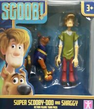 """SCOOBY-DOO SUPER SCOOB & SHAGGY 5"""" ACTION FIGURE TWIN-PACK 2020 UK BRAND NEW"""
