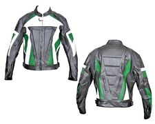 Leather Motorcycle Bike Jacket Biker Rider Touring Racing Vents CE Armour Jacket