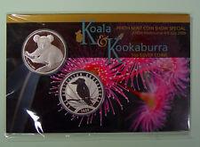 Australien 2 x 1 $ 2009 - Koala und Kookaburra - Perth Mint Coin Show Special -