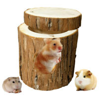 AU_ IC- Small Pets Hamster Tunnel Natural Wood Chew Toys Squirrel Guinea Pig