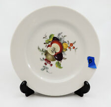 FRUIT by JKW Bavaria Salad Plate 7 3/4 White Fruit Center B Apple, Kiwi & Plum