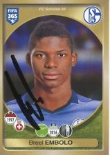 Breel Embolo  FC Schalke 04 Panini Sticker Fußball original signiert 342489