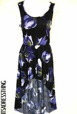 Round Neck Party Floral Regular Size Dresses for Women
