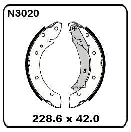 Citroen Xsara Pieasso 2000 onwards REAR Drum Brake Shoes SET N3020